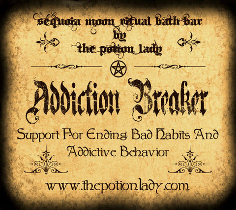 Addiction Breaker Ritual Bath Bar | Support For Ending Bad Habits and Addictive Behavior | Spiritual Supplies