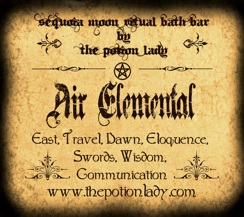 Air (Elemental) Ritual Bath Bar | East, Dawn, Swords, Communication, Travel, Eloquence, Wisdom