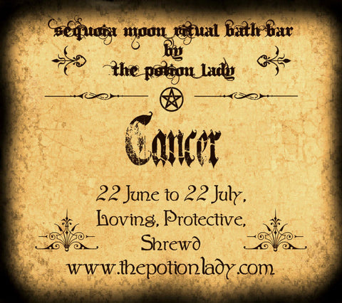 Cancer Ritual Bath Bar | Zodiac, Astrological, Planetary