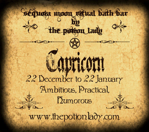 Capricorn Ritual Bath Bar | Zodiac, Astrological, Planetary