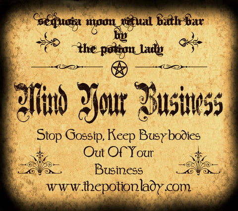 Mind Your Business Ritual Bath Bar | Stop Gossip, Remove Spells, Protection