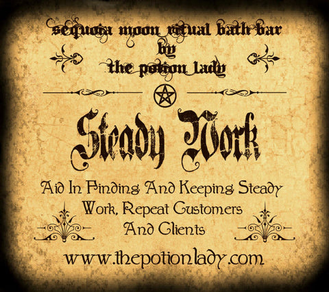 Steady Work Ritual Bath Bar | Finding And Keeping Steady Work, Clients, Customers