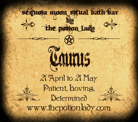 Taurus Ritual Bath Bar | Loving, Patient, Determined, Zodiac