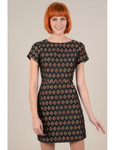 Jacquard Printed Fitted Dress