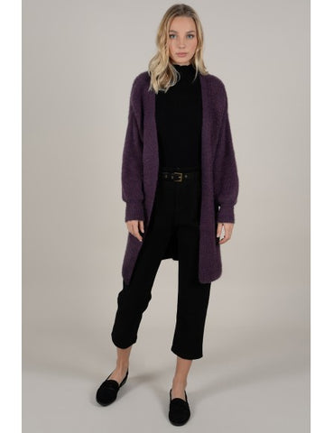 Plum Casual Cardigan