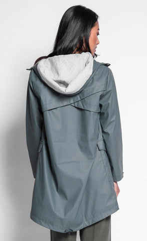Green Army Rain Jacket