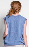 Top Blue Sweater Tank
