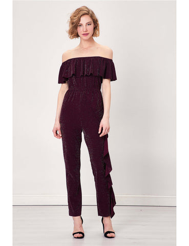 Jumpsuit Sparkly Ruffled