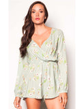 Jumpsuit Silk Green Romper