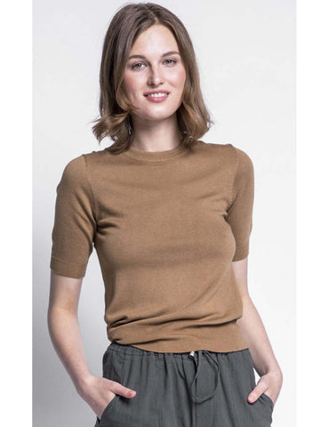Top Thin Sweater Brown