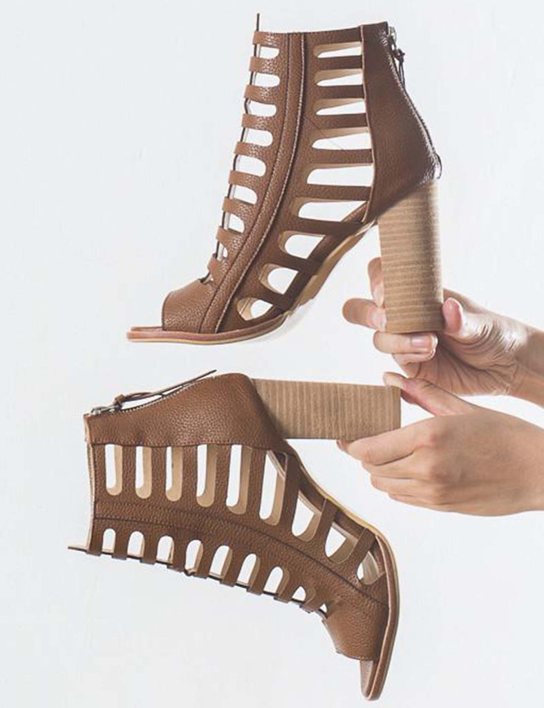 High Heel Lace-Up Sandals