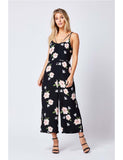 Jumpsuit Black Floral Cami Wide Leg