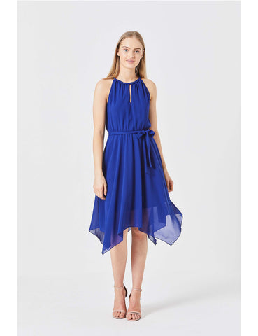 Asymmetrical Chiffon Dress