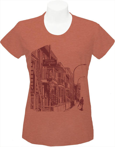 "Women's T-shirt ""Boulevard St. laurent"""