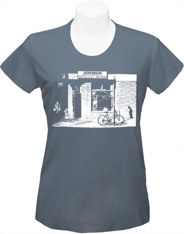 "Women's T-Shirt ""Dépanneur"" grey"