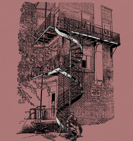 "Men's T-Shirt "" Stairs"""