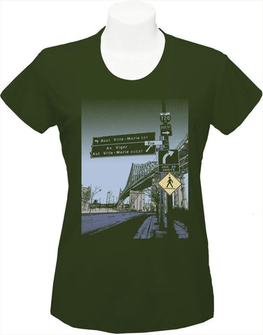 "Women's T-Shirt ""Pont Jacques Cartier"""