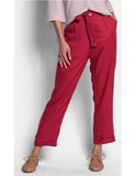 Pants Red Ankle Length