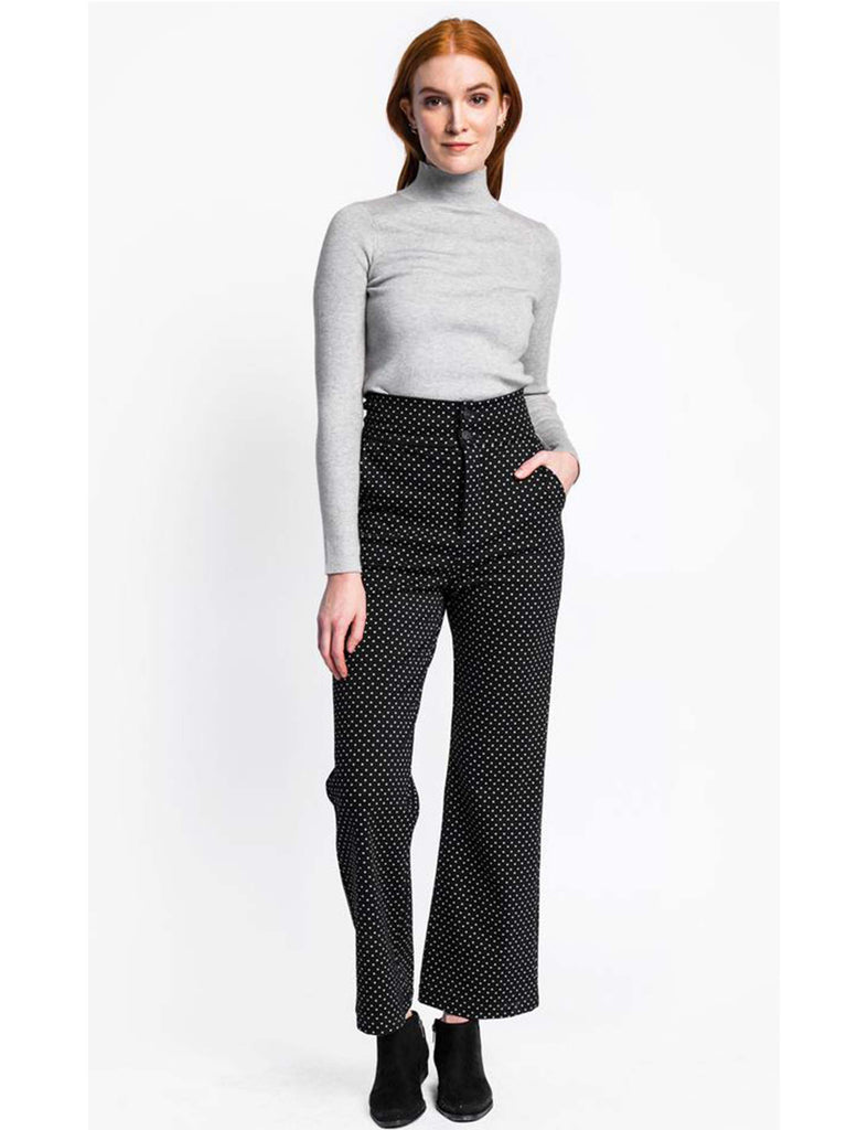 High Waist Fly Buttons Pants