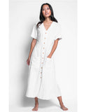 Dress Long Flowing White