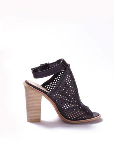 Black Peep-Toe Sandals