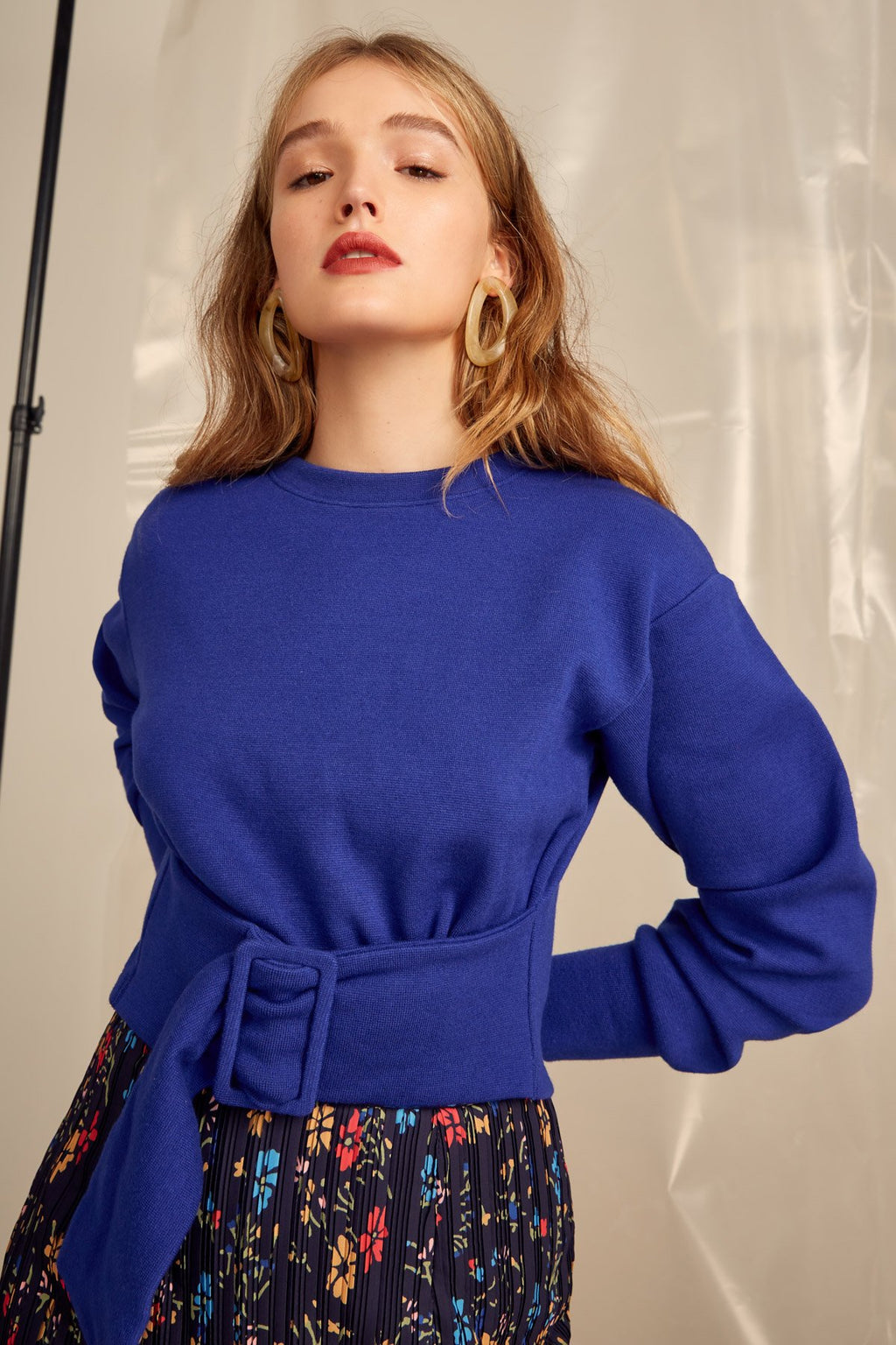 The Moments Sweater Cobalt