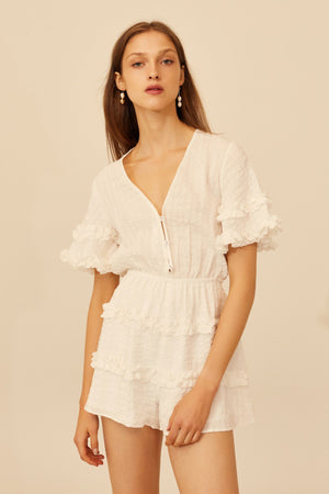 Distinct Playsuit Ivory