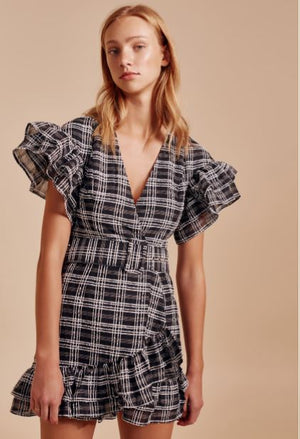 Captivate Dress Black Check