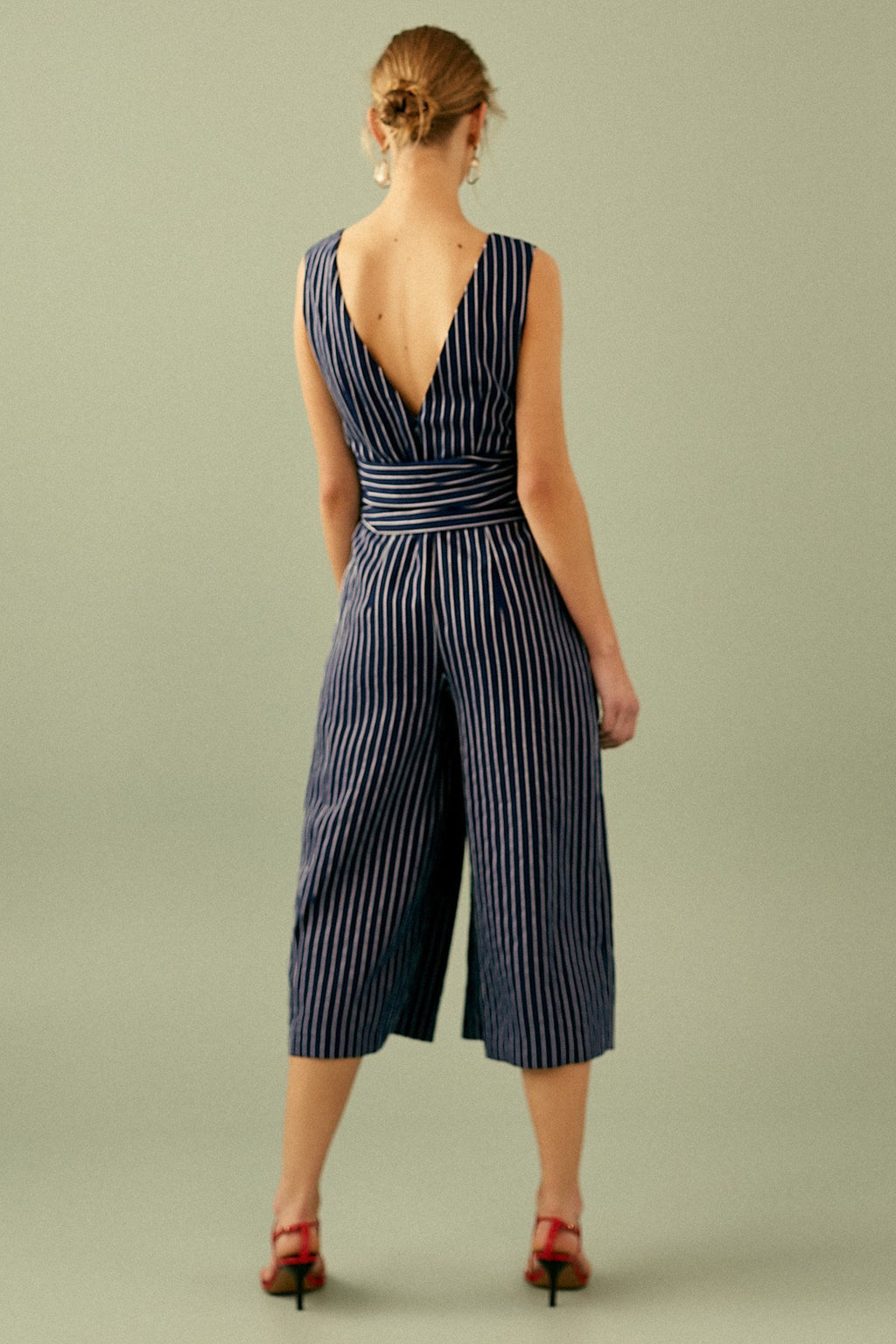 Shadow Of Jumpsuit Navy w/ Ivory