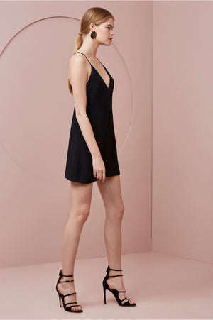 Two Minds Mini Dress - Black