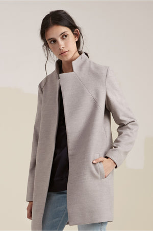Dream Town Coat in Grey - Sallyrose