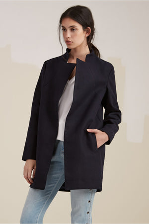 Dream Town Coat in Black - Sallyrose