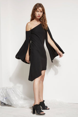 BEYOND ME DRESS BLACK - Sallyrose