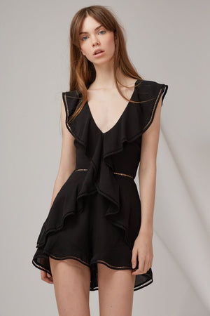 Lovers Holiday Playsuit in Black - Sallyrose