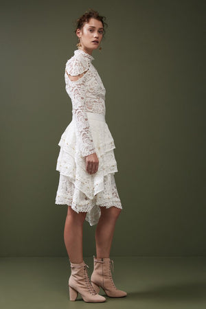STAR CROSSED LACE SKIRT ivory