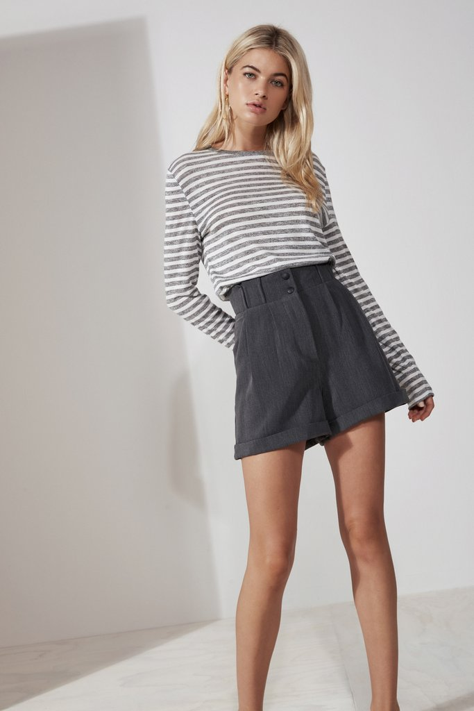 MANHATTAN SHORT charcoal - Sallyrose