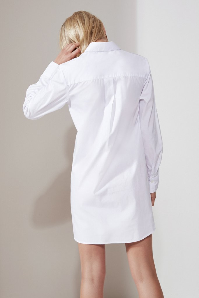 PAPER PLANES SHIRT DRESS white - Sallyrose