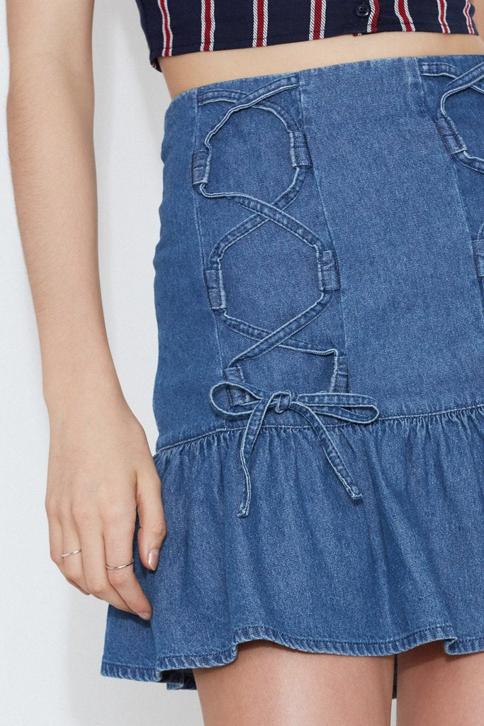 CAPRICORN SKIRT washed blue - Sallyrose