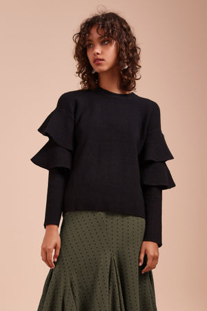 Everything Now Knit Top Black - Sallyrose