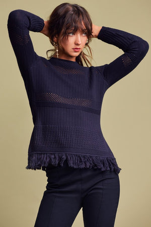 Gravitate L/S Knit Navy