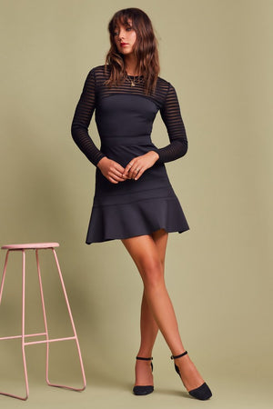 Deception Mini Dress Black