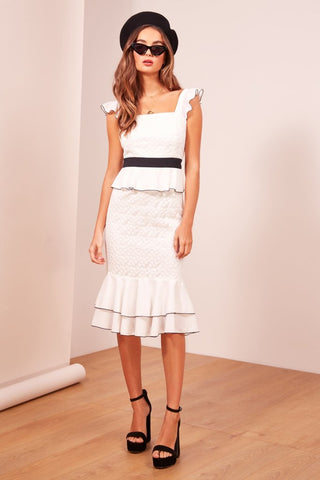 Afterglow Dress Ivory