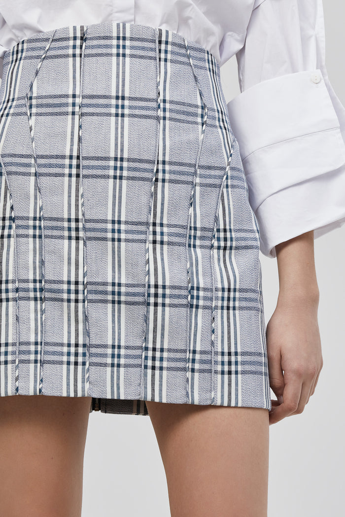 Cullen Skirt Midnight Checker