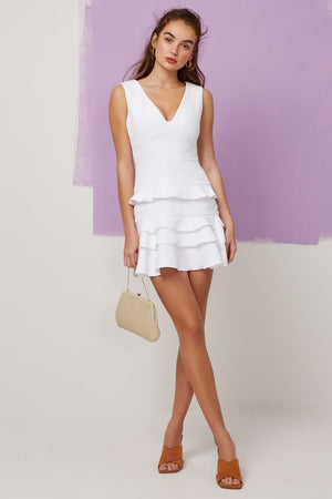 Static Mini Dress Ivory