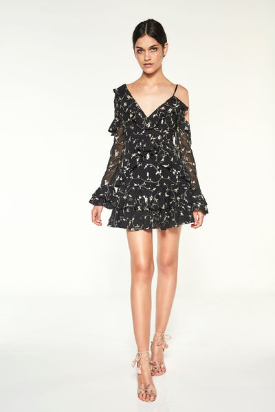 Bewitched Mini Dress Black Embroidery