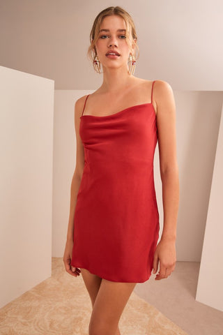 Infinity Mini Dress Pomegranate