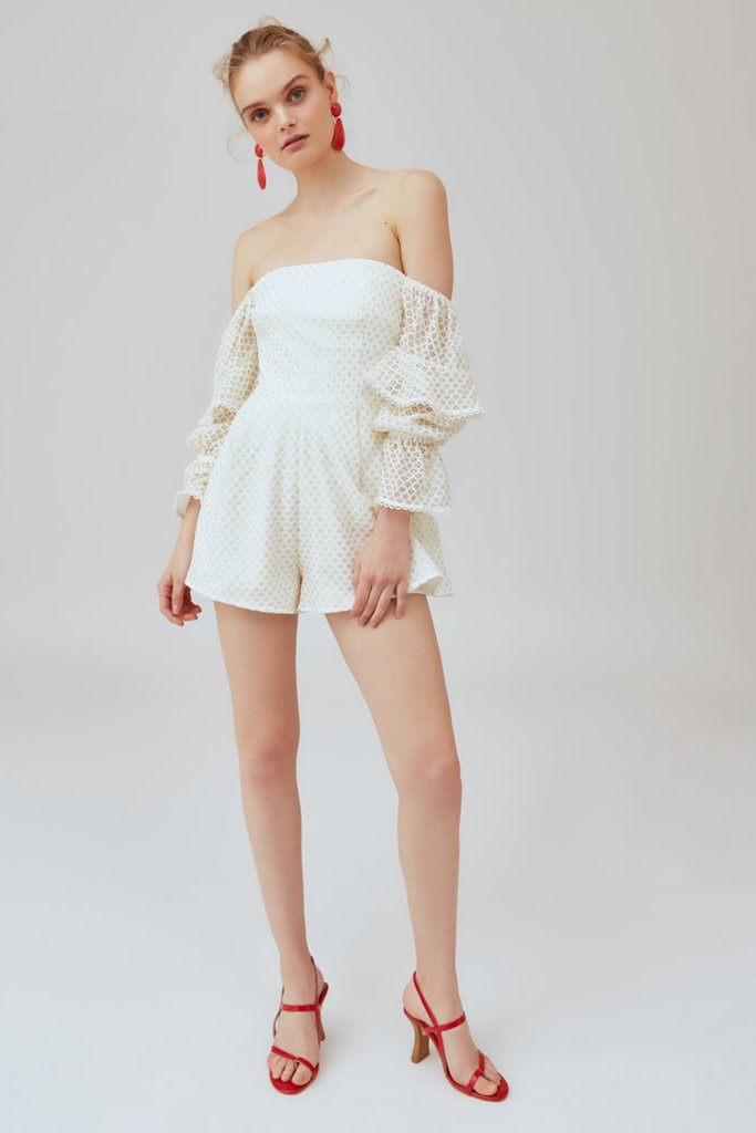 Aspire Playsuit Ivory w/ Gold