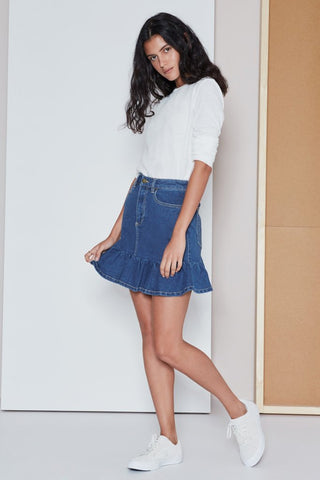 Frequency Skirt Classic Blue