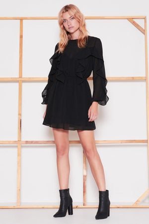 Window L/S Dress Black