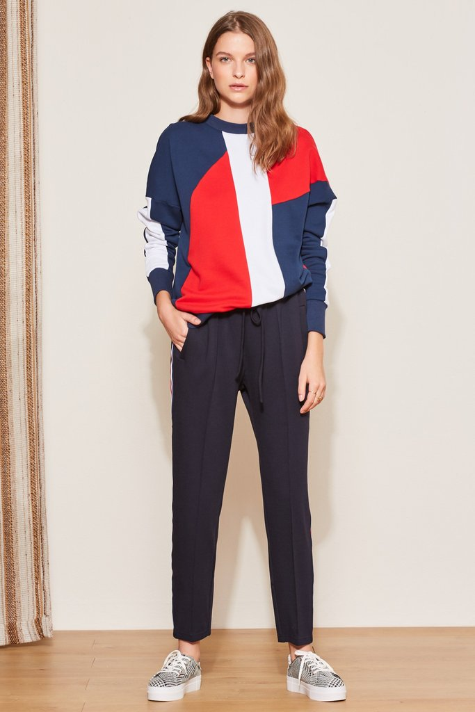 Quarterback Jumper Navy w/ Red